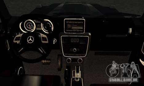 Brabus B65 para GTA San Andreas vista interior
