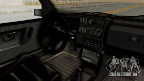 Volkswagen Golf 2 VR6 para GTA San Andreas vista interior