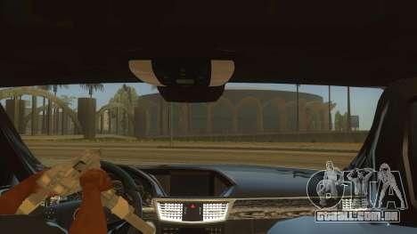 Mercedes Benz E250 Ferramenta De Autoridade para GTA San Andreas vista interior