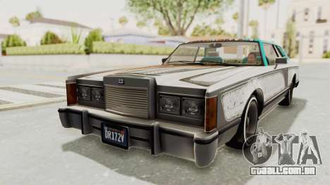 GTA 5 Dundreary Virgo Classic Custom v2 para GTA San Andreas vista inferior
