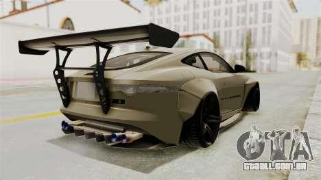 Jaguar F-Type L3D Store Edition para GTA San Andreas traseira esquerda vista