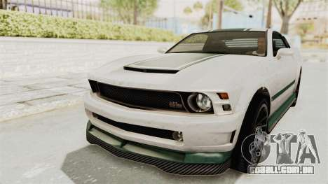 GTA 5 Vapid Dominator v2 IVF para GTA San Andreas vista superior