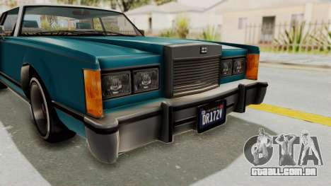 GTA 5 Dundreary Virgo Classic Custom v3 IVF para GTA San Andreas vista superior