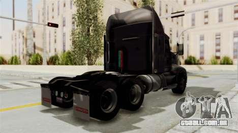 Kenworth T660 Sleeper para GTA San Andreas traseira esquerda vista