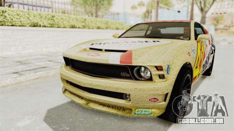 GTA 5 Vapid Dominator v2 SA Lights para GTA San Andreas interior