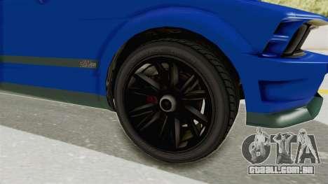 GTA 5 Vapid Dominator v2 IVF para GTA San Andreas vista traseira