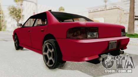 Kartin Sultan RS para GTA San Andreas vista direita