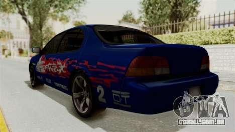 Nissan Maxima SE 1997 Fast N Furious para GTA San Andreas esquerda vista