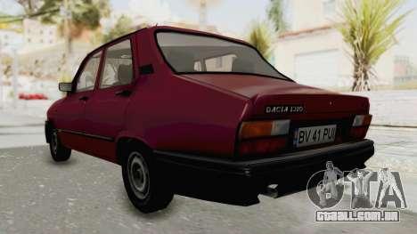 Dacia 1310L 1997 para GTA San Andreas traseira esquerda vista