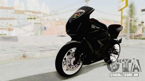 Kawasaki Ninja 250R Black Cobra RnB Anak Jalana para GTA San Andreas