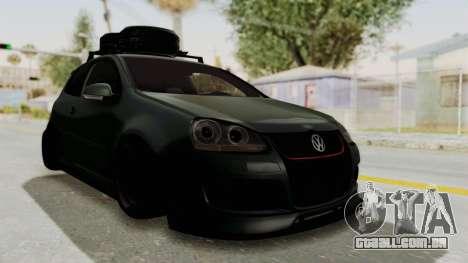 Volkswagen Golf MK5 JDM para GTA San Andreas traseira esquerda vista
