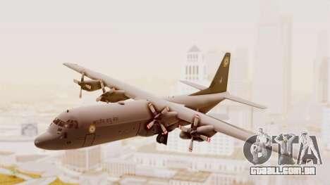 C130 Hercules Indian Air Force para GTA San Andreas traseira esquerda vista