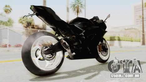 Kawasaki Ninja 250RR Mono Sport para GTA San Andreas traseira esquerda vista