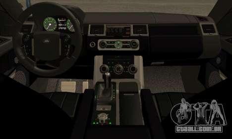Range Rover Sport Tuning para GTA San Andreas vista traseira