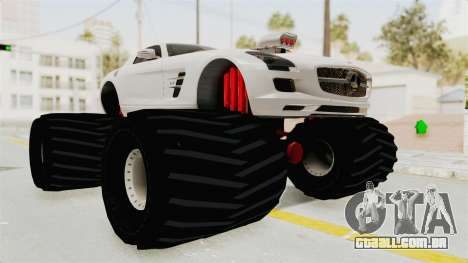 Mercedes-Benz SLS AMG 2010 Monster Truck para GTA San Andreas vista direita