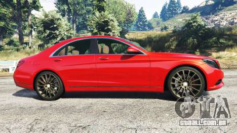 GTA 5 Mercedes-Benz S500 (W222) [bridgestone] v2.1 vista lateral esquerda