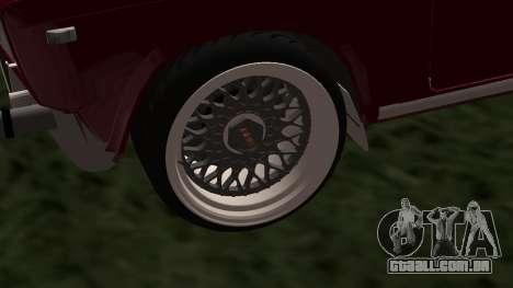 2107 JDM para GTA San Andreas traseira esquerda vista