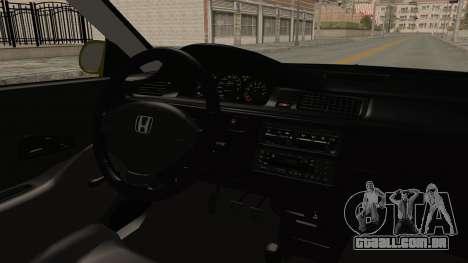 Honda Civic Fast and Furious para GTA San Andreas vista interior