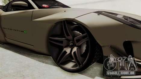 Jaguar F-Type L3D Store Edition para GTA San Andreas vista traseira