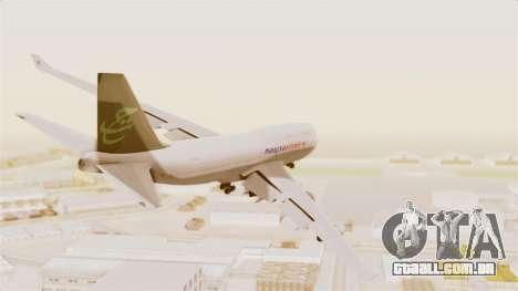 Boeing 747-400 Malaysia Airlines Tabung Haji para GTA San Andreas vista direita