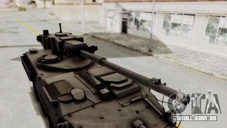 M1128 Mobile Gun System IVF para GTA San Andreas vista traseira