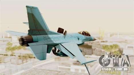 F-16 Fighting Falcon Civilian para GTA San Andreas esquerda vista