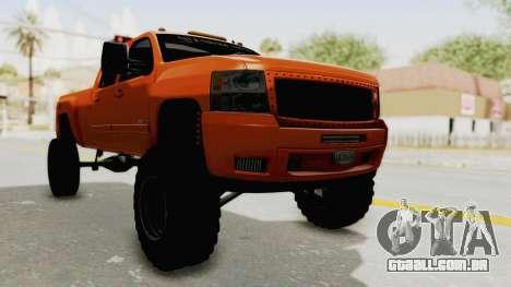 Chevrolet Silverado Long Bed para GTA San Andreas vista direita