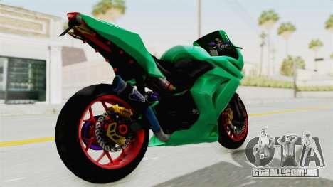 Kawasaki Ninja 250R Race para GTA San Andreas traseira esquerda vista