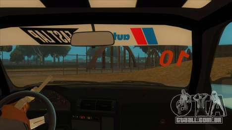 BMW 325i Turbo para GTA San Andreas vista interior