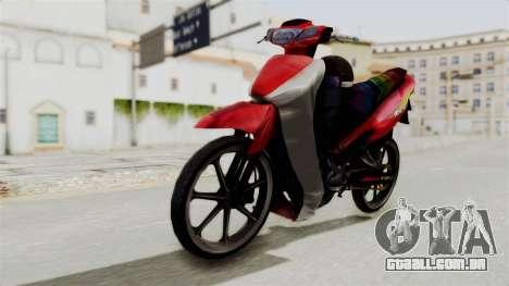 Suzuki RGX 120 para GTA San Andreas vista direita