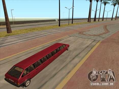 VAZ 2109 17-door para GTA San Andreas vista traseira