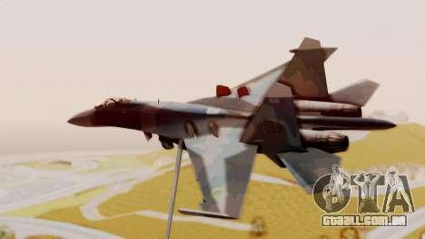 Sukhoi SU-27 Flanker A Ukrainian Air Force para GTA San Andreas esquerda vista