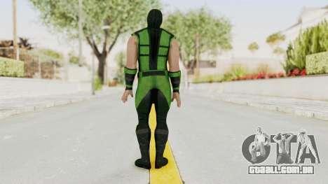 Mortal Kombat X Klassic Human Reptile para GTA San Andreas terceira tela