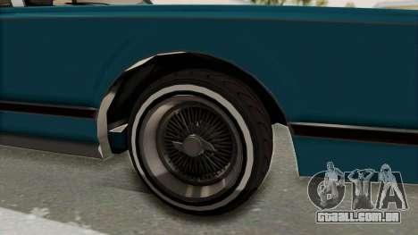 GTA 5 Dundreary Virgo Classic Custom v3 IVF para GTA San Andreas vista traseira