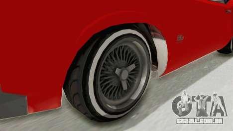 GTA 5 Declasse Sabre GT2 IVF para GTA San Andreas vista traseira