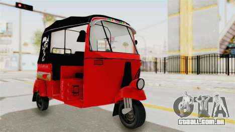 Sri Lanka Three Wheeler Taxi para GTA San Andreas vista direita