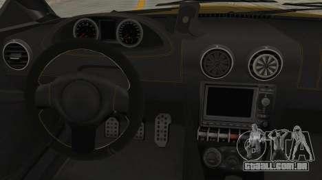 GTA 5 Ocelot F620 SA Lights para GTA San Andreas vista interior