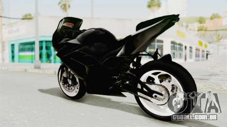 Kawasaki Ninja 250R Black Cobra RnB Anak Jalana para GTA San Andreas esquerda vista