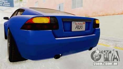 GTA 5 Ocelot F620 IVF para GTA San Andreas interior