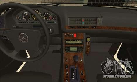 Mercedes-Benz E420 W210 para GTA San Andreas vista traseira