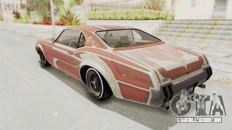 GTA 5 Declasse Sabre GT2 IVF para GTA San Andreas interior