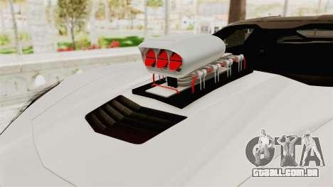 Chevrolet Corvette Stingray C7 Monster Truck para GTA San Andreas vista traseira