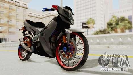 Honda 150R Sonic Lock Style 2016 para GTA San Andreas traseira esquerda vista