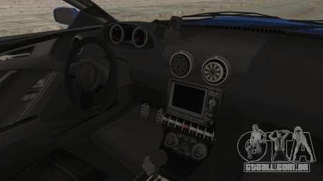 GTA 5 Ocelot F620 IVF para GTA San Andreas vista interior