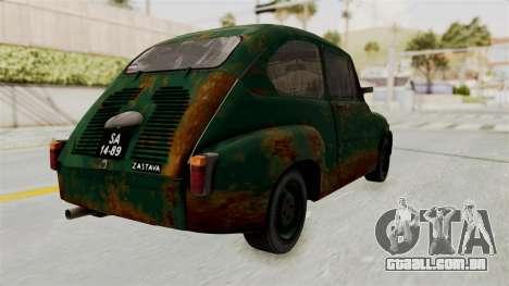 Zastava 750 Rusty para GTA San Andreas esquerda vista