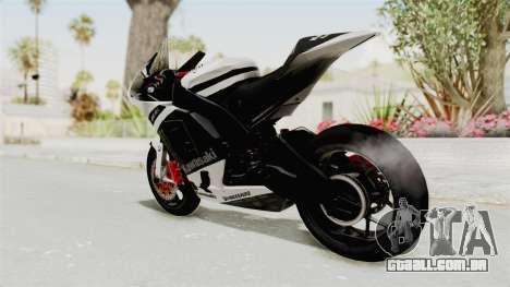 Kawasaki Ninja ZX-RR Streetrace para GTA San Andreas esquerda vista