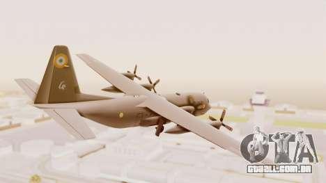 C130 Hercules Indian Air Force para GTA San Andreas esquerda vista
