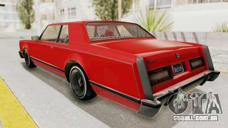 GTA 5 Dundreary Virgo Classic Custom v2 para GTA San Andreas esquerda vista