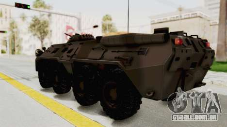 BTR-80 Desert Turkey para GTA San Andreas esquerda vista