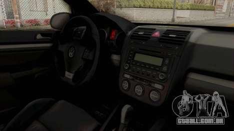 Volkswagen Golf MK5 JDM para GTA San Andreas vista interior